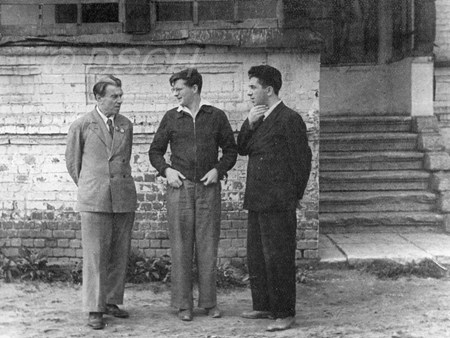 <p>With Reinhold Glier and Aram Khachaturian.<br />Photo by…</p>