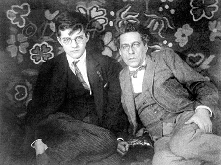 <p>With Vsevolod Meyerhold in his flat on Bryusov Lan…</p>