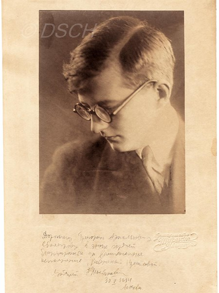 <p>Photograph which Shostakovich gave Stolyarov with …</p>
