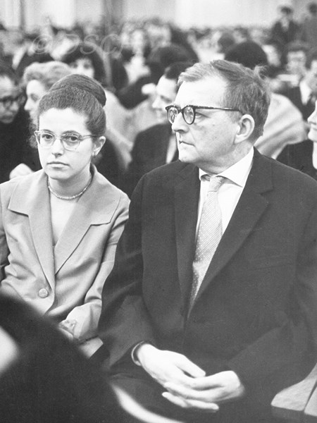<p>Irina Antonovna and Dmitri Dmitriyevich in the Gra…</p>